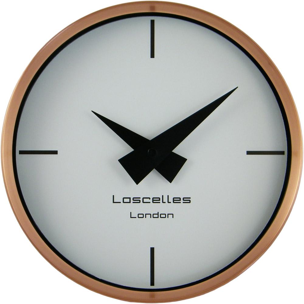 brushed copper wall clock gay times uk. Black Bedroom Furniture Sets. Home Design Ideas