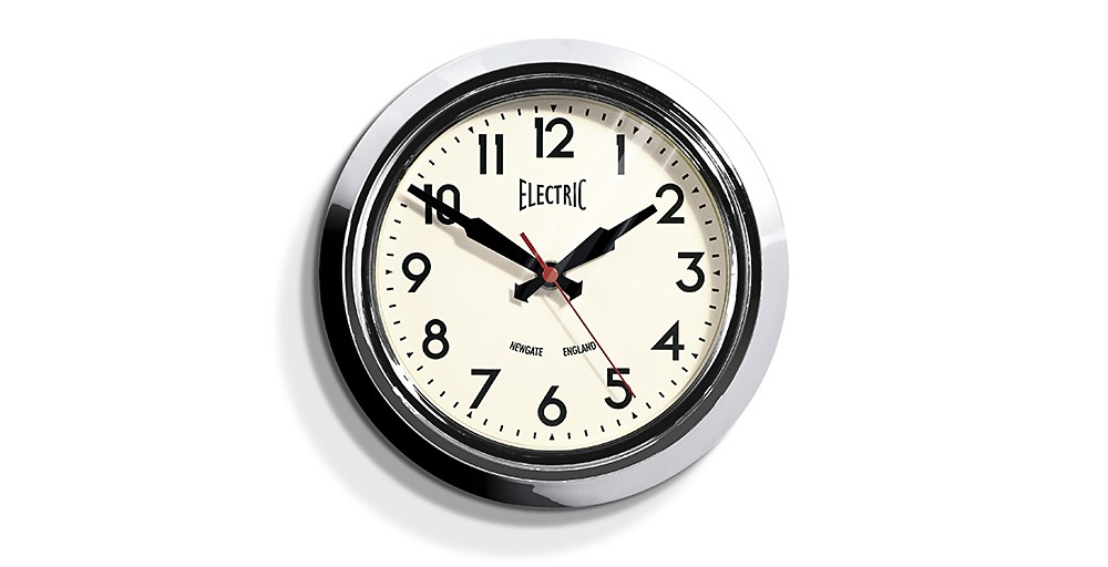 Small Electric Chrome Clock