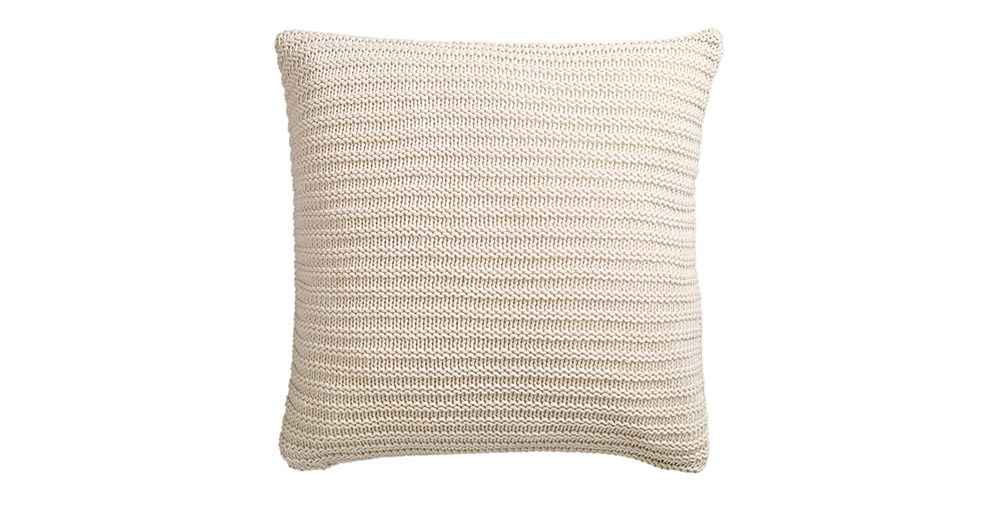 Chunky Knit Cushions Feather & Black