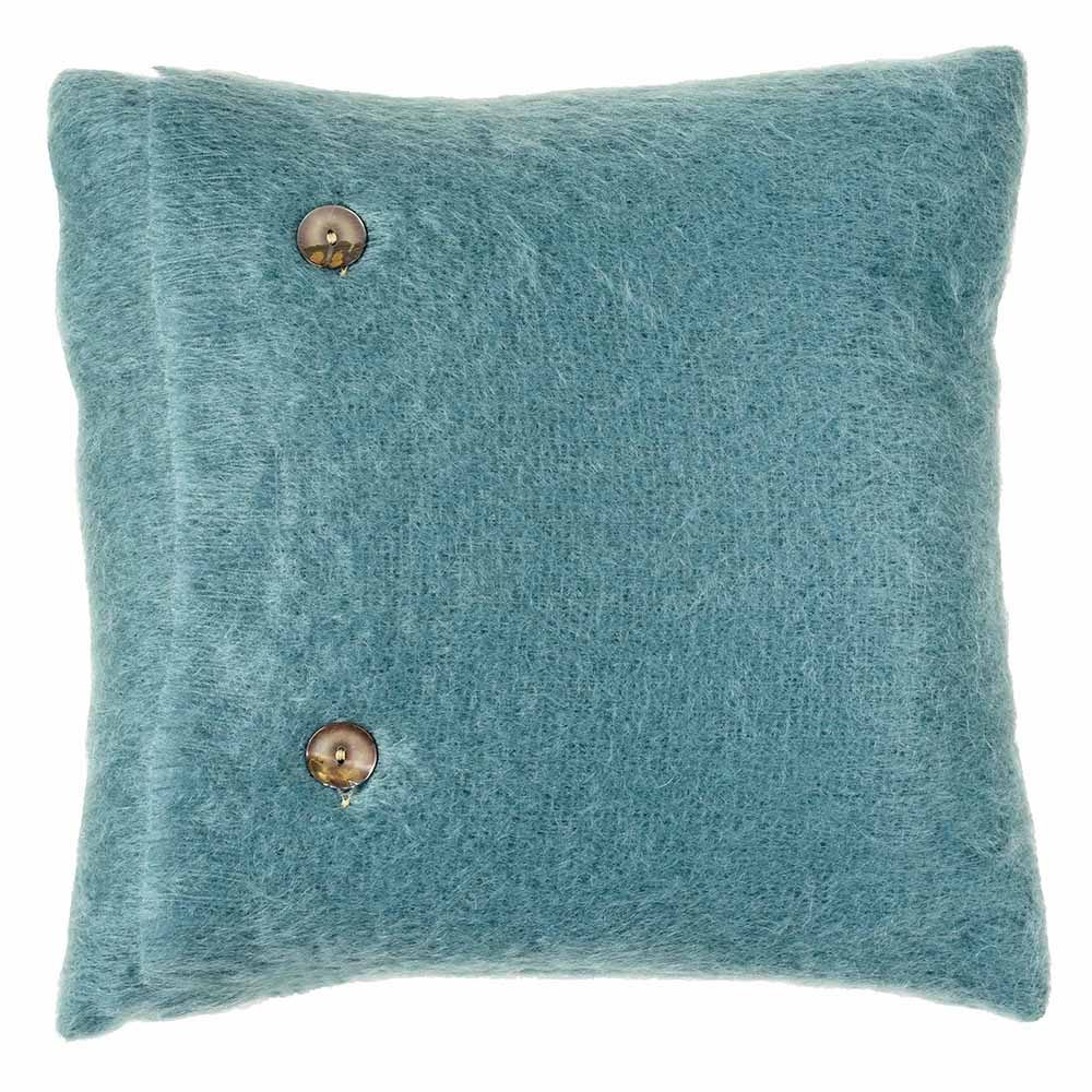 Luxury Mohair Cushion - Silver