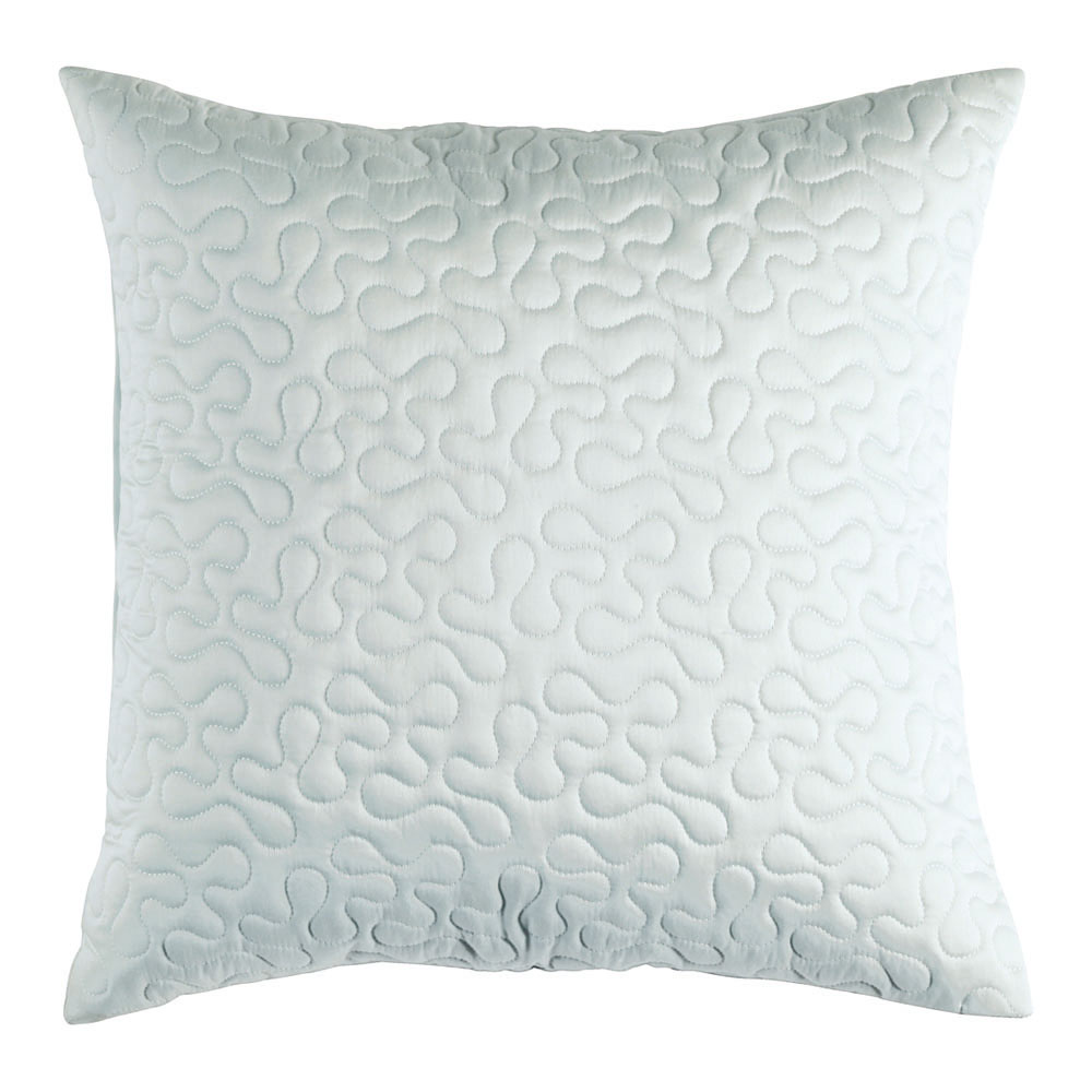 Luxury Plain Sateen Quilted Cushions - Duck Egg