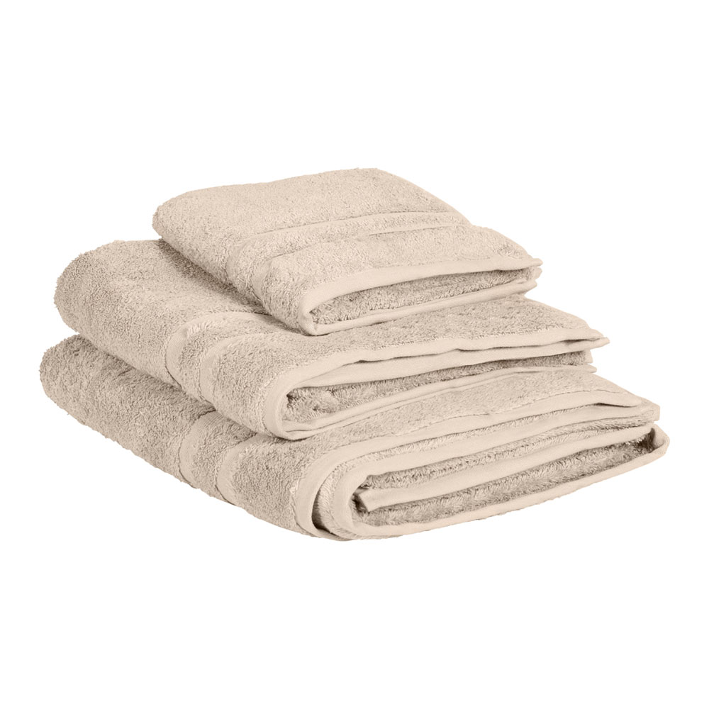 Biscuit egyptian cotton towels feather amp black