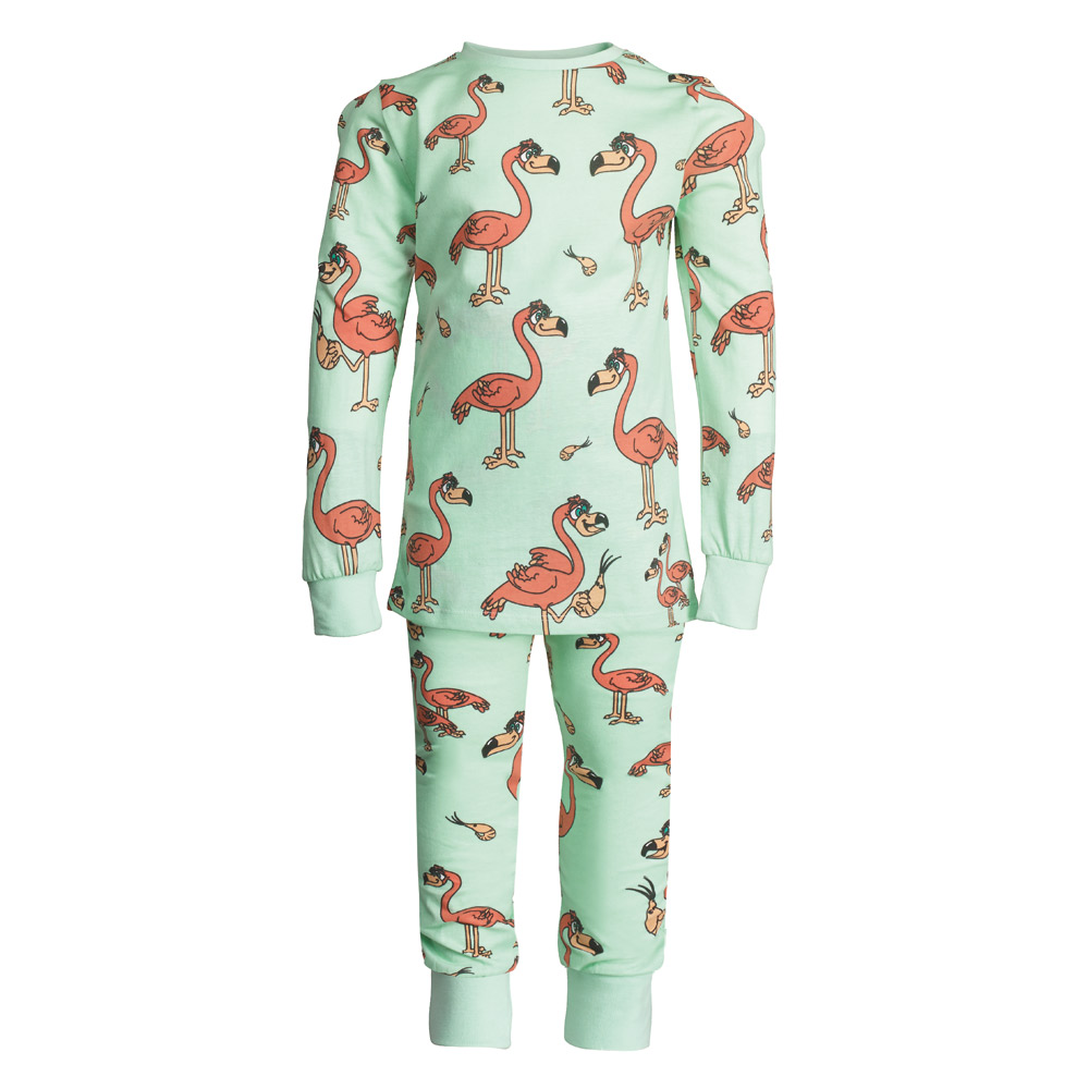 Flamingo Pyjamas Feather Amp Black