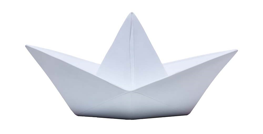 Origami Boat Lamp | Feather & Black