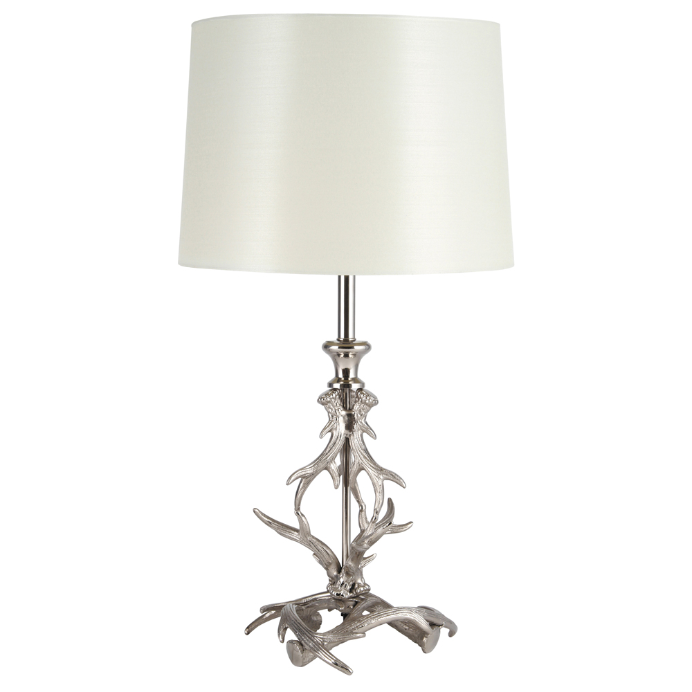 Stag Table Lamp Feather amp Black