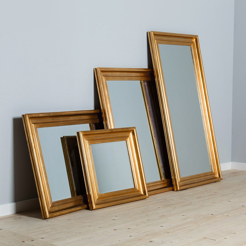 Burwell Clearance Mirrors - Gold Medium Rectangle