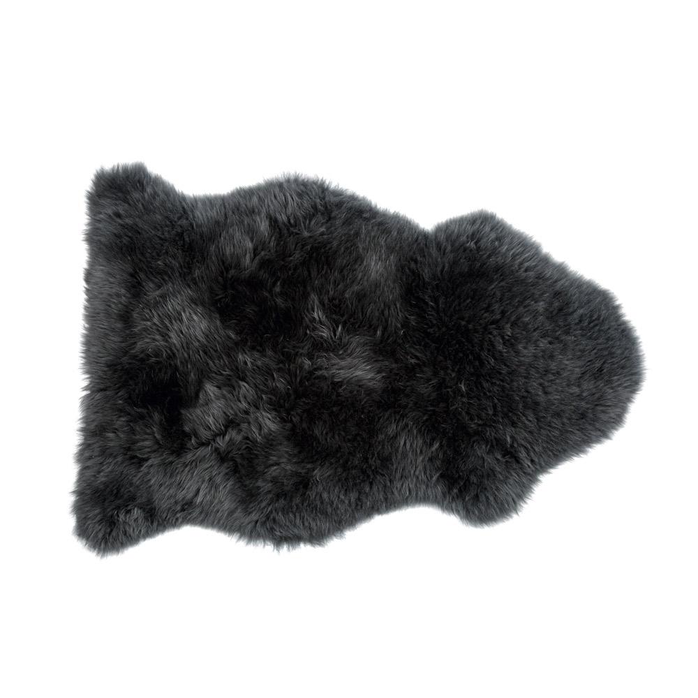 sheepskin rug  feather  black -