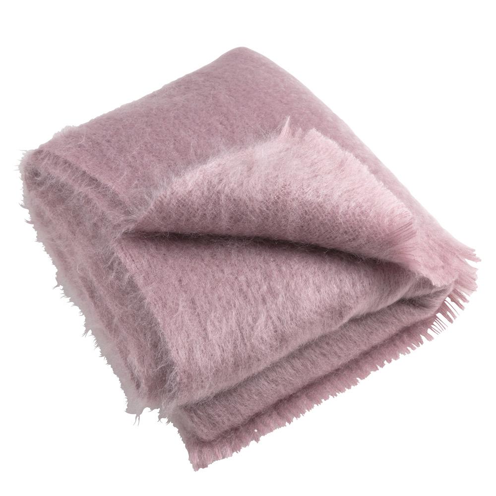 Luxury Mohair Throw - Dusky Pink