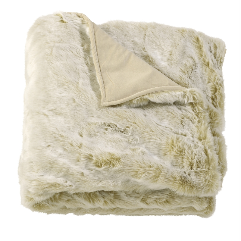 Marmotte Faux Fur Throw