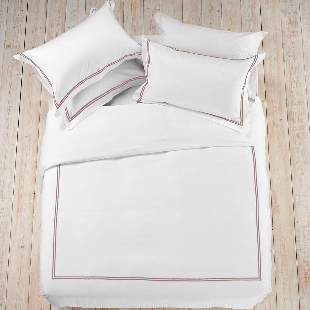 Luca Linen Clearance - Pillow Case Oxford Standard Rose