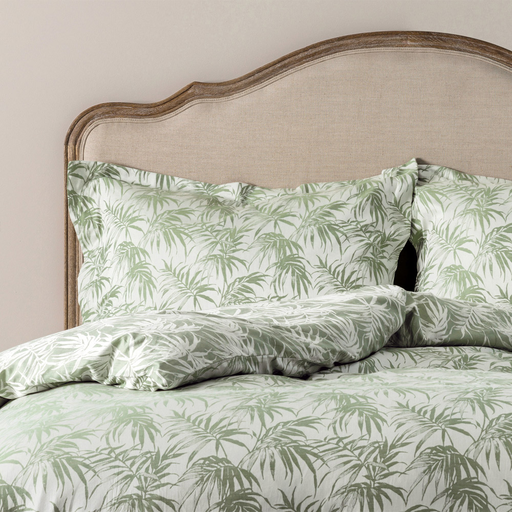 Palms Jacquard Bed Linen  Duvet Cover Super King Olive