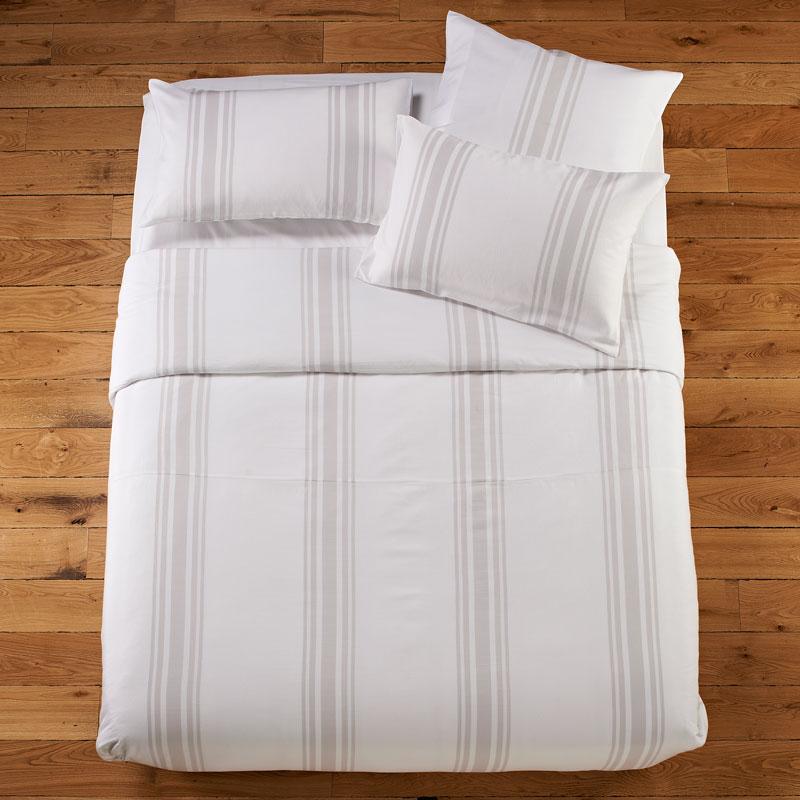 Weekender Stripe Grey Bed Linen - Duvet Cover Single