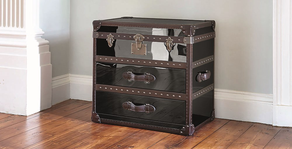 Chicago Black Stainless Steel Chest