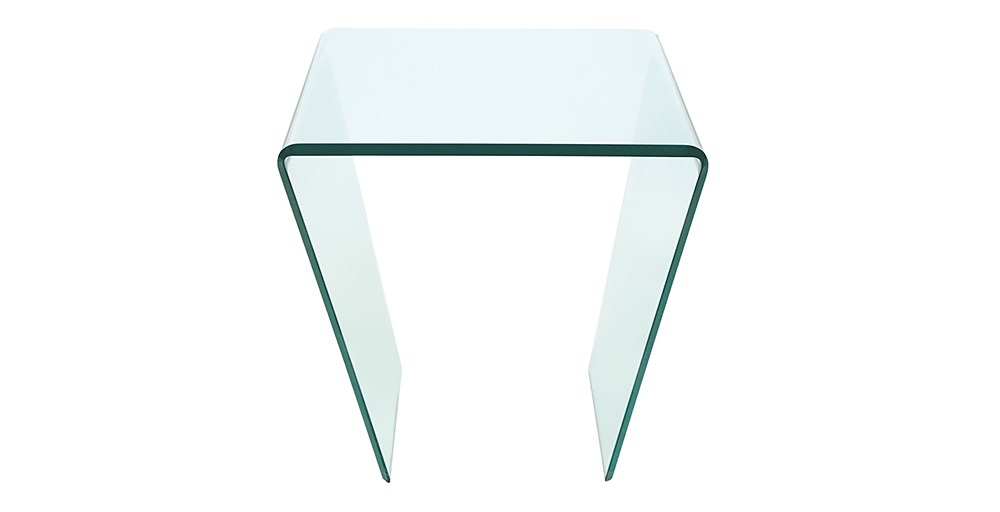 Curved Glass Bedside Table